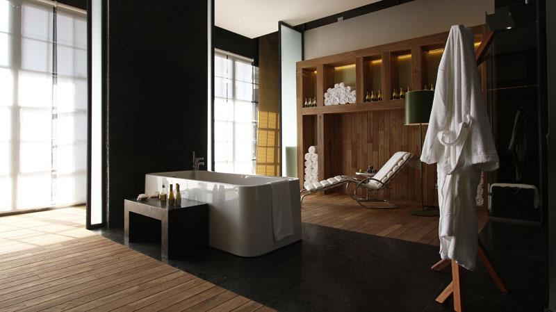 Baño Con Ducha Escocesa:sauna seco una ducha de sensaciones y una ducha escocesa